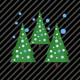 christmas, cold, pine, snow, tree, trees, winter icon