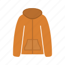 clothes, clothing, jacket, outdoor, warm, winter, zip icon