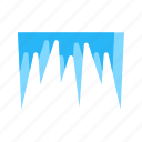 cold, ice, icicle, icicles, snow, white, winter icon