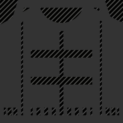 clothe, jacket, sweater, vest icon