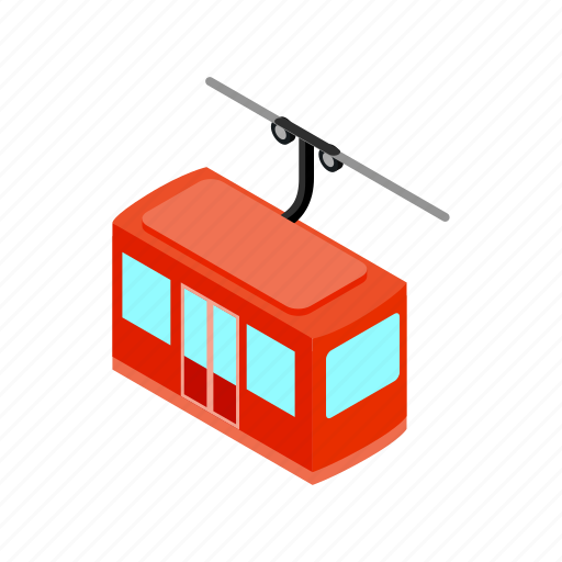 cable, gondola, isometric, lift, mountain, ski, transportation icon