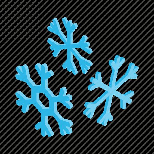 christmas, ice, isometric, season, snow, snowflake, winter icon