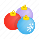 ball, blue, christmas, decoration, holiday, isometric, tree