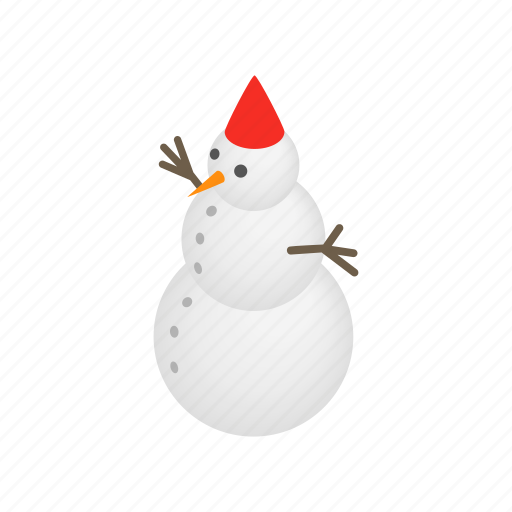hat, holiday, isometric, season, snow, snowman, winter icon