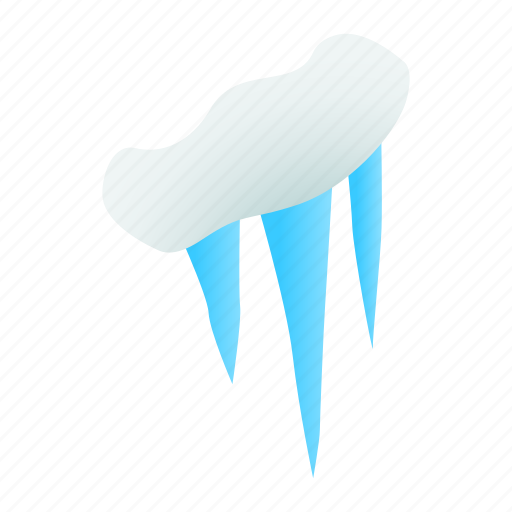 Cold, ice, icicle, icy, isometric, snow, winter icon - Download on Iconfinder