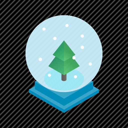 christmas, holiday, isometric, snow, snowflake, winter, xmas icon