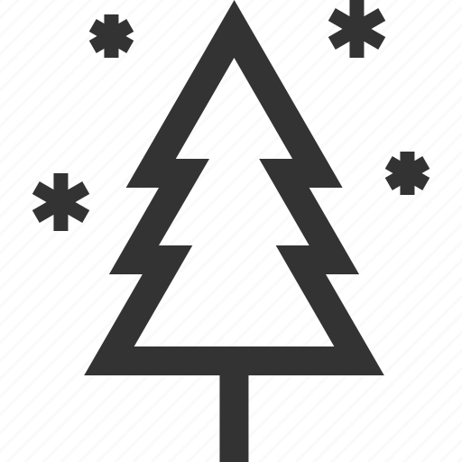 pine, snow, tree, winter icon