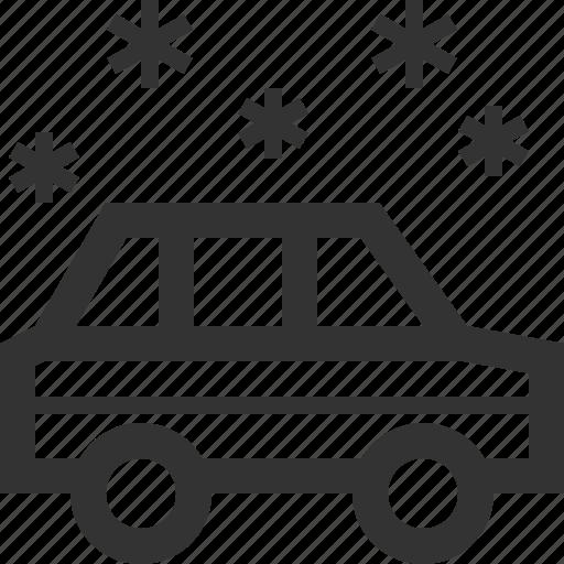 car, ride, snowy, vehicle icon