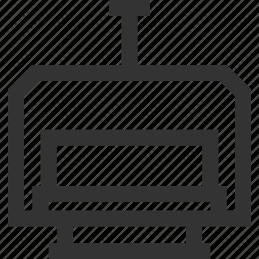 gondola, lift, line, ski icon