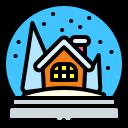 ball, glass, xmas, winter icon
