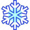 cold, holiday, season, snowflake, winter icon
