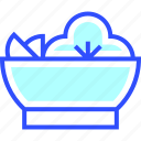 cold, holiday, salad, season, winter icon