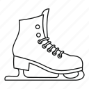 boot, ice, line, outline, shoe, skating, sport icon
