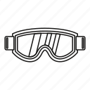isolated, line, mask, outline, snowboarding, sport, winter icon