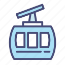 cable, car, christmas, snow, transport, transportation, winter icon