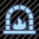 burn, fire, flame, furnace, light, snow