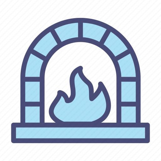 burn, fire, flame, furnace, light, snow icon
