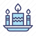 birthday, candle, celebration, christmas, party, snow, winter icon