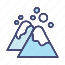 christmas, decoration, holiday, mountain, snow, vacation, winter icon