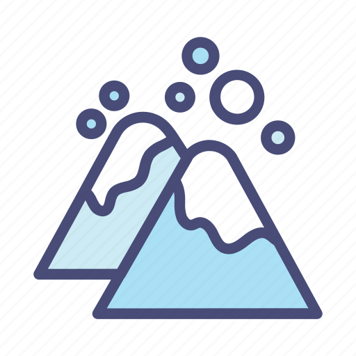 Christmas, decoration, holiday, mountain, snow, vacation, winter icon - Download on Iconfinder