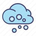 christmas, cloud, forecast, snow, weather, winter icon