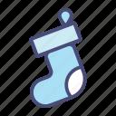 christmas, holiday, snow, socks, vacation, winter, xmas icon