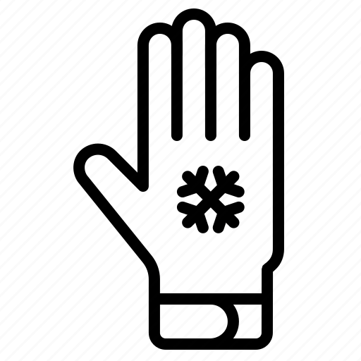 accessory, apparel, clothing, cold, glove, winter icon