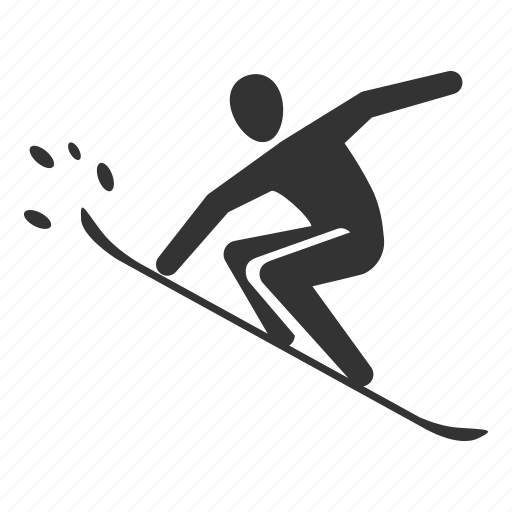 monoskiing, slide, snowboard, snowboarder, snowboarding, sport, winter icon