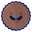 snack, cookie, smiley, food, winter