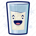 milk, winter, smiley, drink, beverage