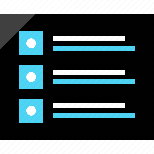 bullet, creative, list, page, wireframe icon