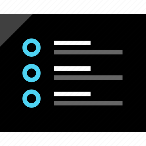 bullet, design, mark, paragraph, points, wireframe icon