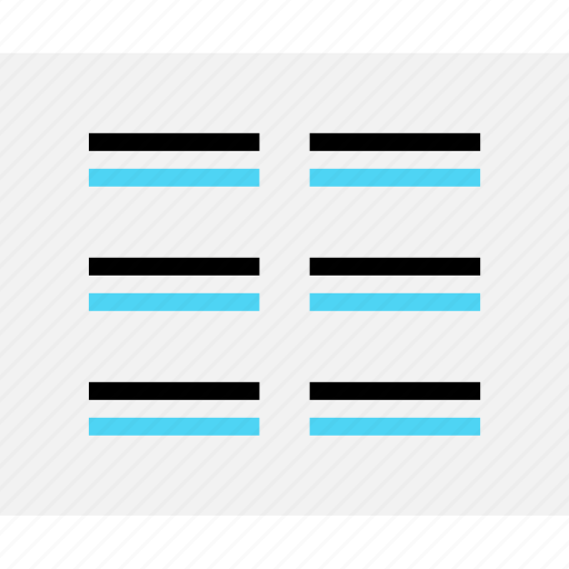 design, lines, page, paragraph, wireframe icon