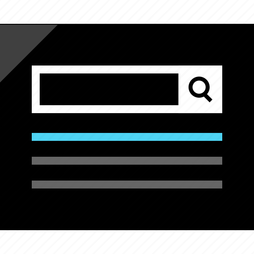 bar, design, results, search, wireframe icon