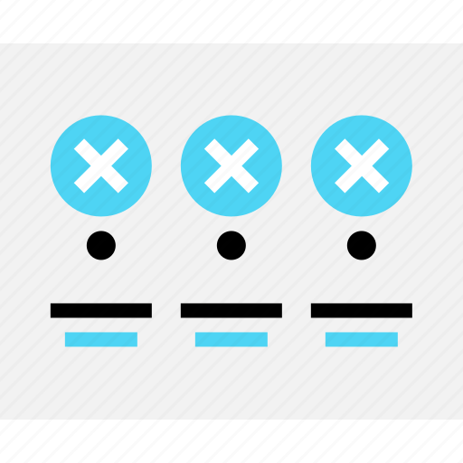 design, error, messages, three, wireframe icon