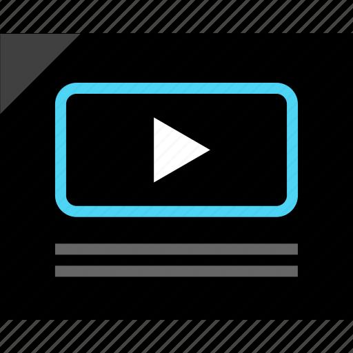 creative, design, media, player, video, wireframe, youtube icon