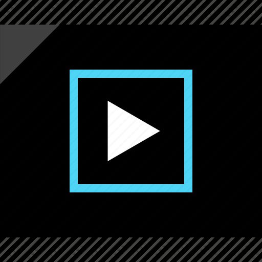 design, media, play, playlist, video, wireframe icon