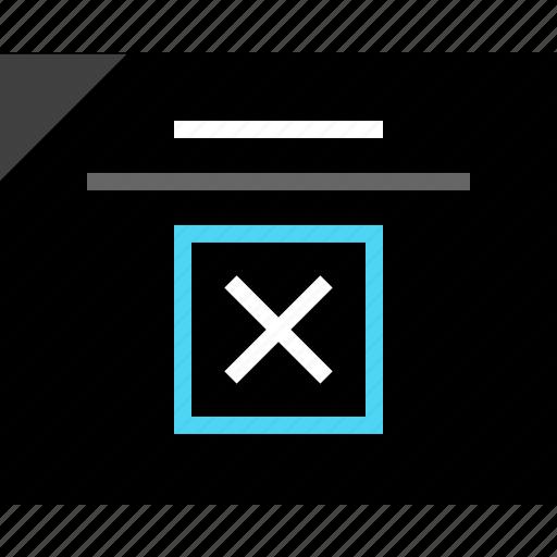 debugging, delete, design, error, wireframe, x icon