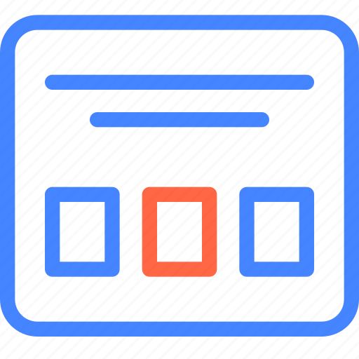 form, landing, main, page, prototype, wireframe icon