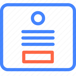 form, page, profile, prototype, wireframe icon