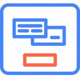 form, page, payment, prototype, wireframe icon