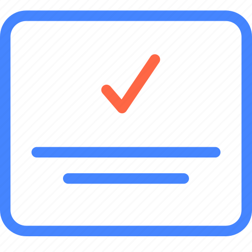 approved, form, page, prototype, wireframe icon