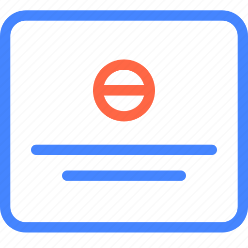 ban, form, page, prototype, wireframe icon