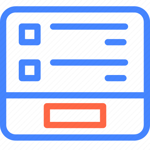 basket, form, page, prototype, purchases, wireframe icon