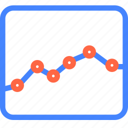 analytics, graph, page, prototype, wireframe icon