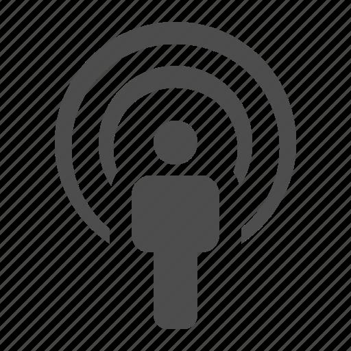 human, man, mind, thinking, thoughts, wifi, wireless icon