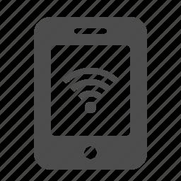 mobile phone, phone, radio waves, smartphone, telephone, wifi, wireless icon