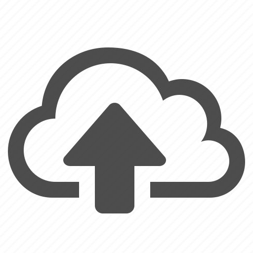 arrow, cloud, cloud computing, storage, upload, wireless icon