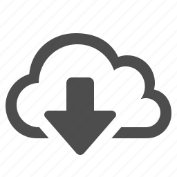 arrow, cloud, cloud computing, download, storage, wireless icon