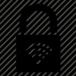 key, lock, locked, protect, security, wifi, wireless icon